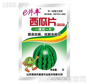 西瓜片氧化硼肥片-e片丰-精诚农业