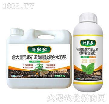 绿叶型含腐殖酸大量元素缓释复合液肥-叶多多-科利农