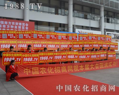 中国农化招商网在2015广西农资会上奋力拼搏