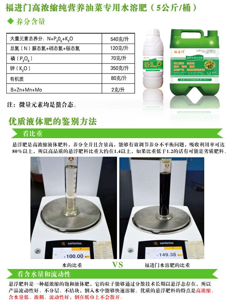福进门油菜专用水溶肥1