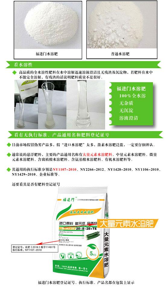 福进门黄瓜专用水溶肥2