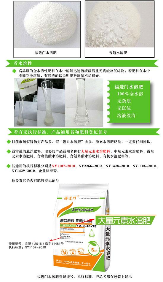 福进门高钾型大量元素水溶肥2