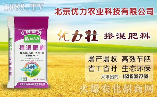 优力壮掺混肥平衡作物营养 促进作物增产增收