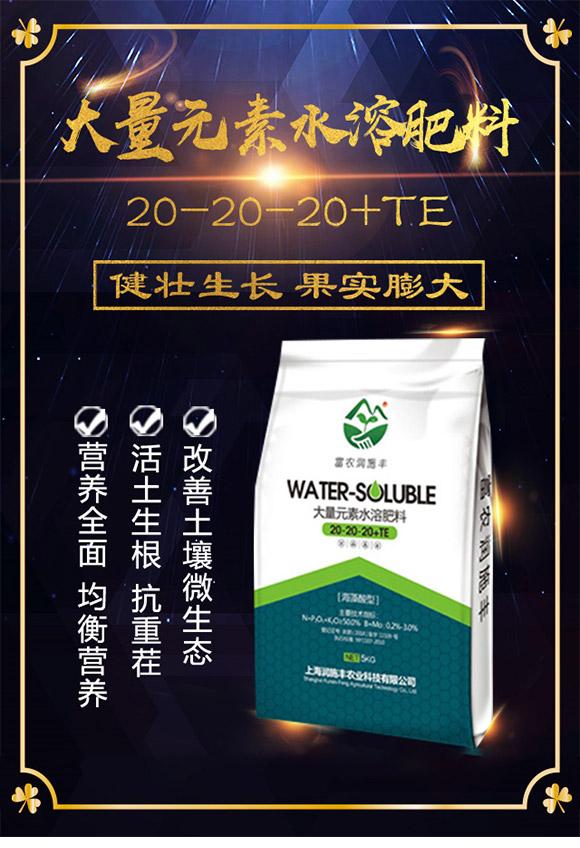 大量元素水溶肥料20-20-20+TE-富农润施丰_01