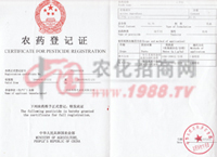 乙草胺农药登记证-河南省春光农化有限公司