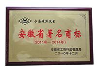 2011年-2014年安徽省著名商标
