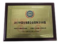 2017中国生物肥企业竞争力100强