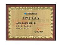 挂牌企业证书