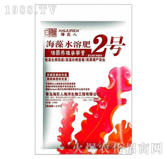 活菌养根美果素海藻水溶肥2号-海巨人