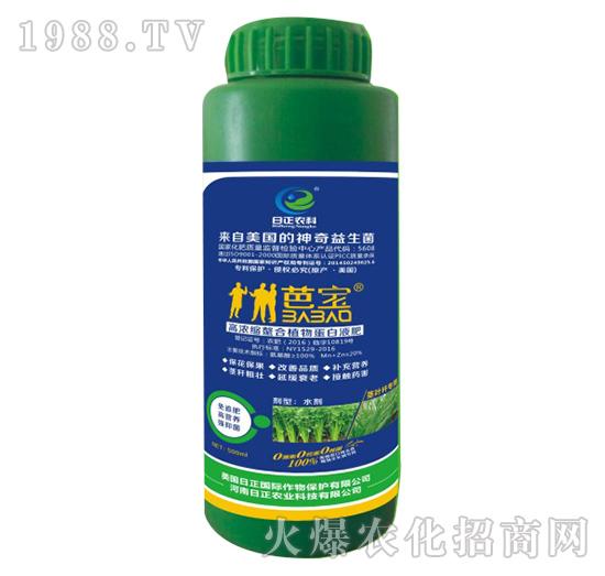 茎叶杆专用-高浓缩螯合植物蛋白液肥-日正农科