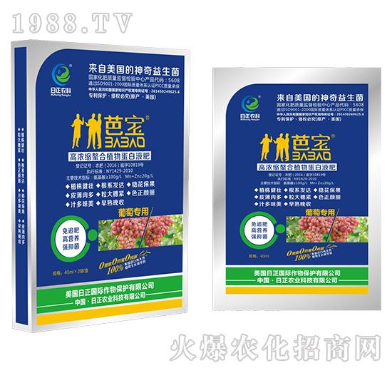 葡萄专用(袋)-高浓缩螯合植物蛋白液肥-日正农科