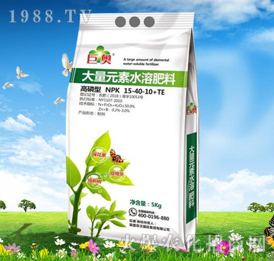 大量元素水溶肥料15-40-10+TE-巨奥