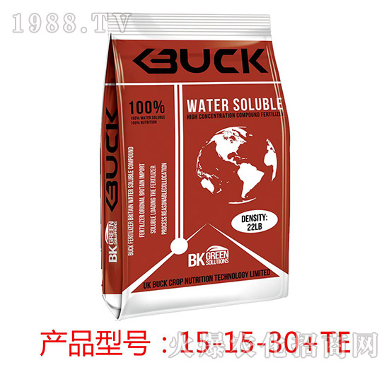 高钾型大量元素水溶肥料15-15-30+TE-步克-华庭生物
