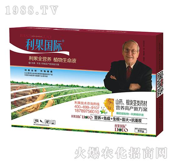 山药、根块茎类药材高产营养套餐-利果国际