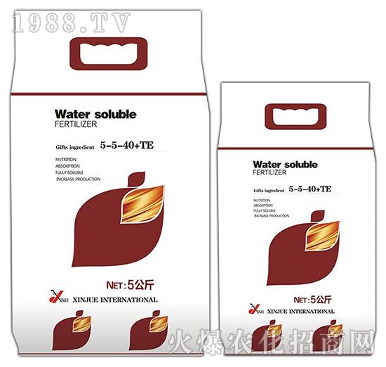Water soluble FERTILIZER-5-5-40+TE-施莱登
