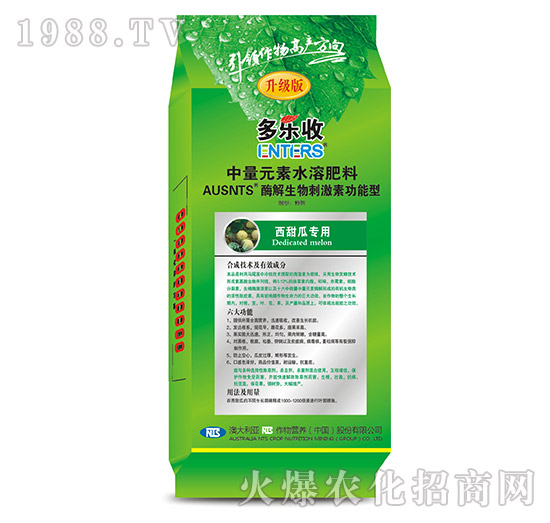 西甜瓜专用中量元素水溶肥料-恩特施