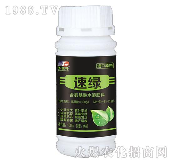 含氨基酸水溶肥料-速绿-天叶生物