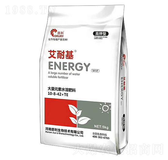 高�型大量元素水溶肥料10-8-42+TE-艾耐基-爵利生物