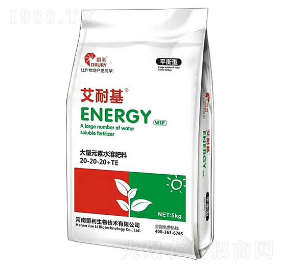 平衡型大量元素水溶肥料20-20-20+TE-艾耐基-爵利生物