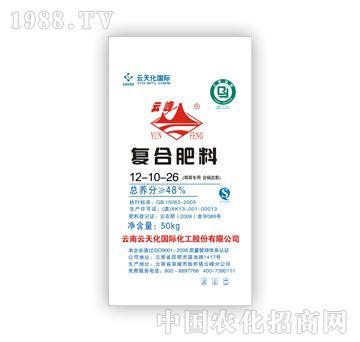 云天化-烟草专用含硝态氮复合肥料12-10-26