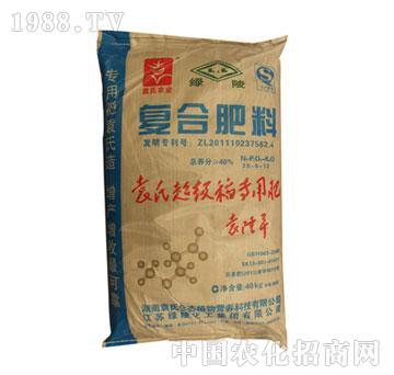 绿陵-40%袁氏超级稻专用肥(20-8-12)蓝包