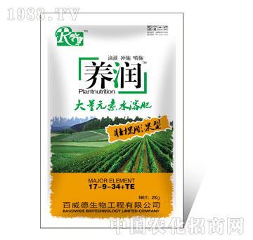 2kg养润壮棵膨果型大量元素水溶肥17-9-34