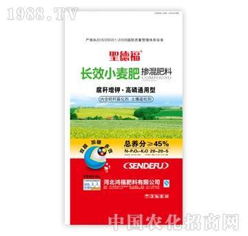 鸿福-�}德福-长效小麦掺混肥20-20-5