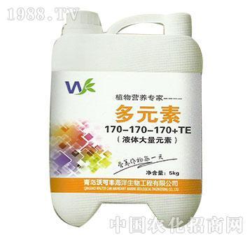 多元素水溶肥170-170-170+TE-沃可丰