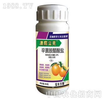 柑橘专用溃腐立克-1.8%辛菌胺醋酸盐-宝丰万隆