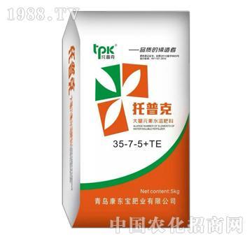 托普克大量元素水溶肥35-7-5+TE-康东宝