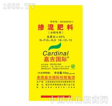 45%掺混肥料18-12-15(水稻)-嘉吉国际-中信嘉吉
