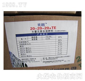 贝朗大量元素水溶肥20-20-20+TE(箱)-中农九胜