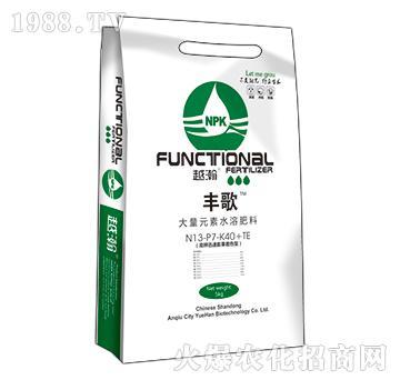 大量元素水溶肥料13-7-40+TE-丰歌-越瀚生物
