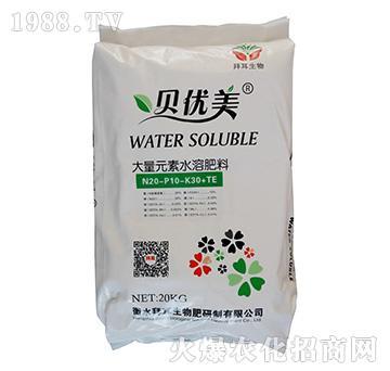 贝优美大量元素水溶肥20-10-30+TE-拜耳生物肥