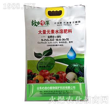 大量元素水溶肥料16-6-36+TE-故乡情深-心连心植物