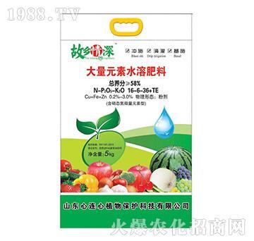 58%大量元素水溶肥料16-6-36+TE-故乡情深-心连心植物