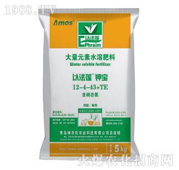 大量元素水溶肥料12-4-34+TE-以法莲钾宝-神农氏