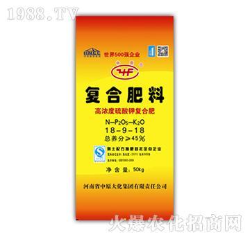 高浓度硫酸钾复合肥18-9-18-中原大化