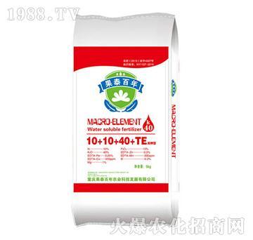 高钾型大量元素水溶肥10+10+40+TE-果泰百年