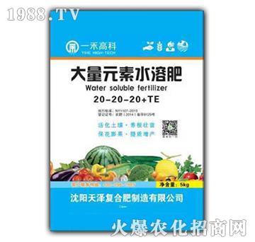大量元素水溶肥20-20-20+TE-一禾农资