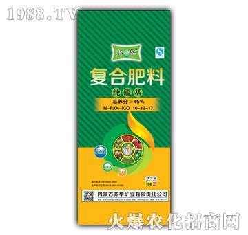 纯硫基复合肥料16-12-17-一禾农资
