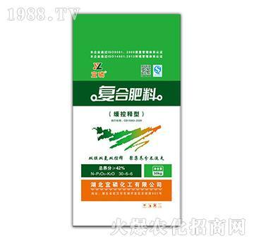缓控释型复合肥料30-6-6-宜磷-中磷大化