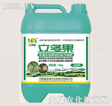 瓜类专用多糖生物酶诱抗肽冲施肥-立多果-圣博尔
