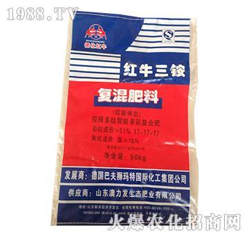 红牛三胺复混肥料17-