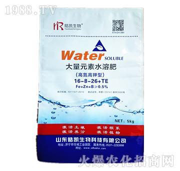 高氮高钾型大量元素水溶肥16-8-26+TE-皓凯生物