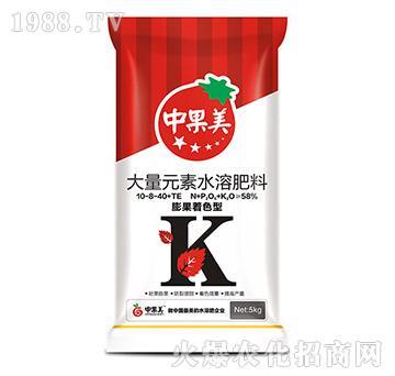 膨果着色型水溶肥10-8-40+TE-中果美-农利达