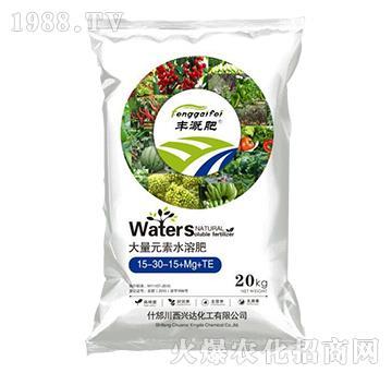 丰溉大量元素水溶肥15-30-15+Mg+TE-兴达化工