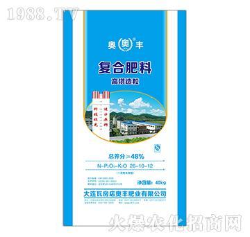 高塔造粒复合肥料26-10-12-奥丰