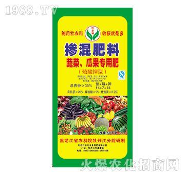 蔬菜、瓜果专用掺混肥料14-7-14-牡丰