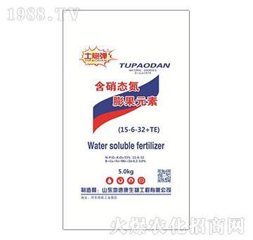 含硝态氮膨果元素15-6-32+TE-土炮弹-地速康